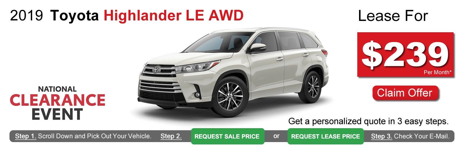 Toyota Highlander Lease >> Toyota Highlander Lease Deals Near Boston Ma Lease Offers