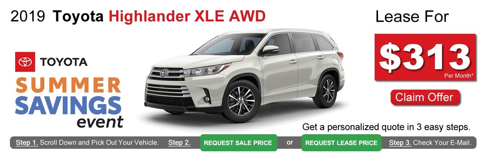 Toyota Lease Deals >> Toyota Highlander Lease Deals Near Boston Ma Lease Offers